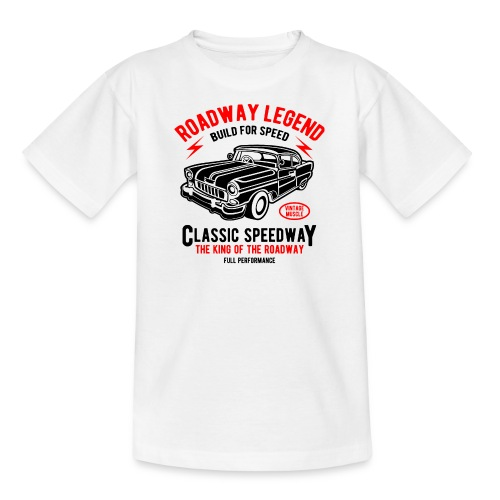Roadway Legend Build for Speed - Teenager T-shirt