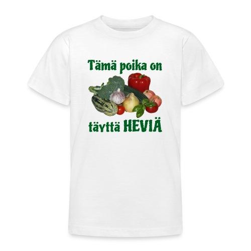 Poika täyttä heviä - Nuorten t-paita
