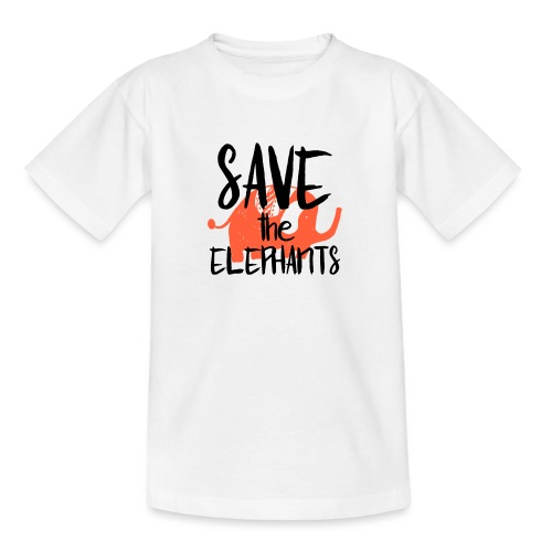 Save the Elephants - Teenage T-Shirt