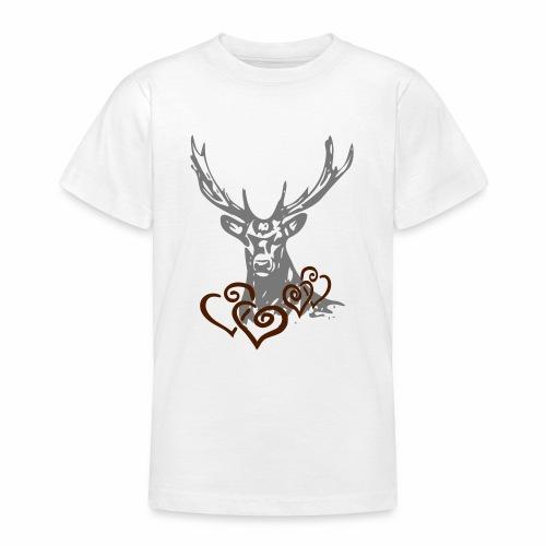 Hirschherz - Teenager T-Shirt