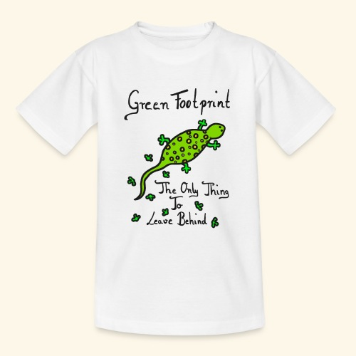 Gecko Green Footprint - Teenager T-Shirt