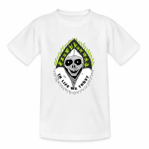 Image of death v2 with text IN LIFE WE TRUST - T-shirt Ado