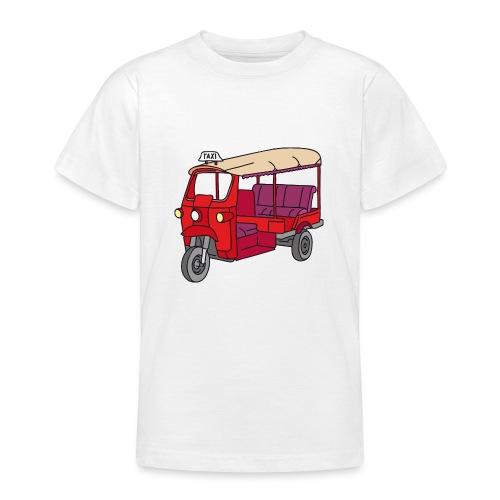 Rote Autorikscha, Tuk-tuk - Teenager T-Shirt