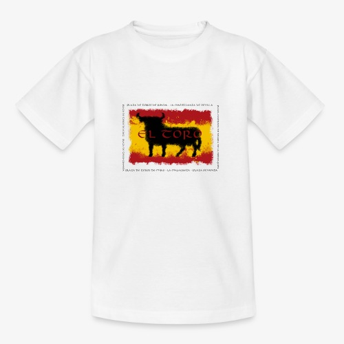 Spain Flag with bull - Teenager T-Shirt