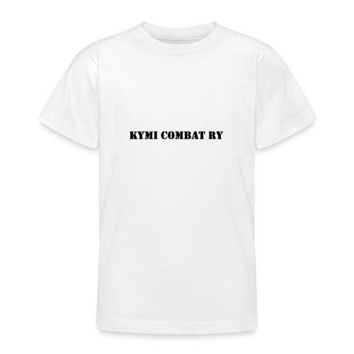 kc musta teksti transparent png - Nuorten t-paita