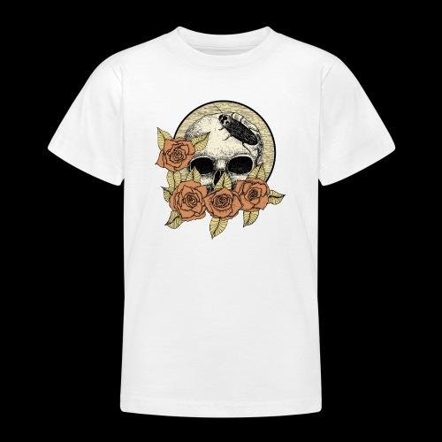 Rose et tête de mort - T-shirt Ado