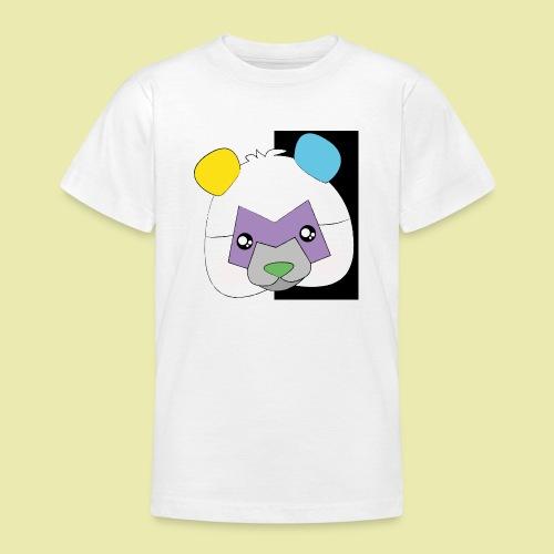 Cute popular Panda with many colors! - T-skjorte for tenåringer