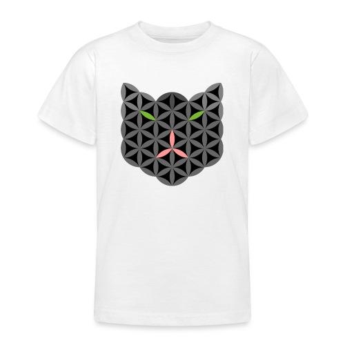 The Cat Of Life - Sacred Animals, B01, Dark. - Teenage T-Shirt