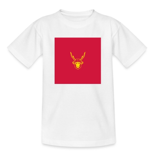 scimmiacervo sfondo rosso - Maglietta per ragazzi