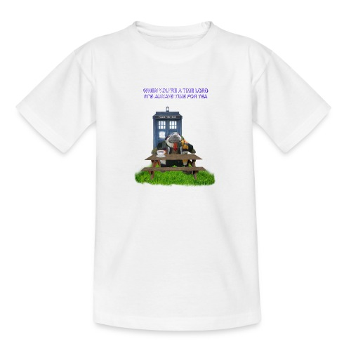 TIME AND SPACE AND TEA - Teenage T-Shirt