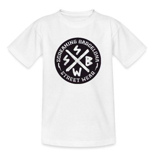 BASIC LOGO SWEATSHIRT BLACK - Camiseta adolescente