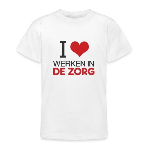 I LOVE Werken in de zorg - Teenager T-shirt