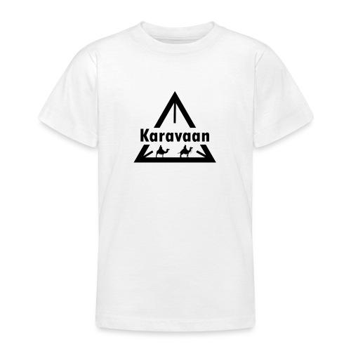 Karavaan Black (High Res) - Teenager T-shirt