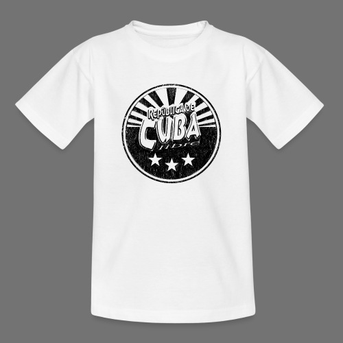 Cuba Libre (1c musta) - Nuorten t-paita