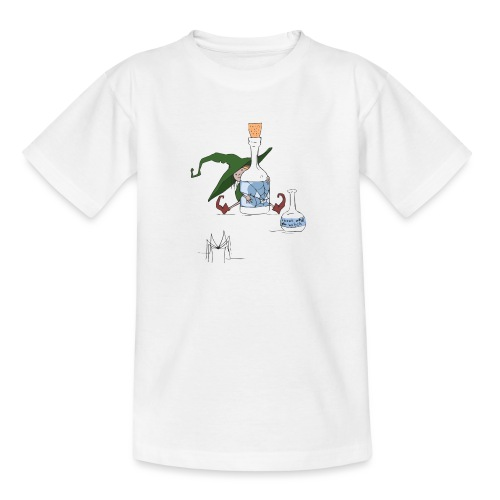 Witch Green Halloween Scene - Teenager T-Shirt