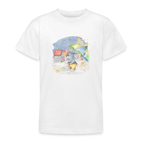 cute rabbit fall - Teenager T-Shirt