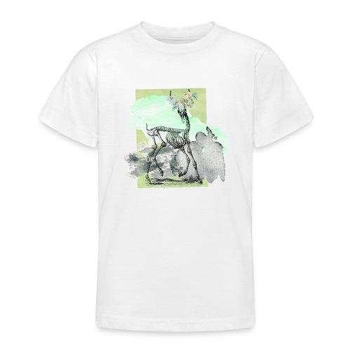 Flowery Deer Skeleton - Teenager T-Shirt