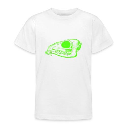 Grüner Säbezahnhirsch Schädel - Teenager T-Shirt
