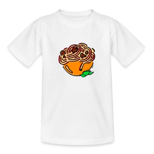 Schüssel Spaghetti - Teenager T-Shirt