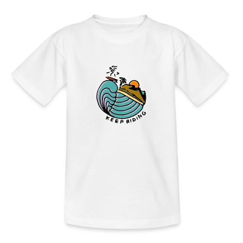 Surfer im Sonnenuntergang - Teenager T-Shirt