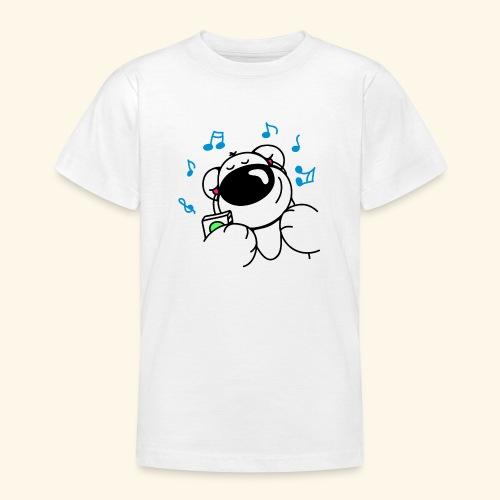 Der Bär hört Musik - Teenager T-Shirt