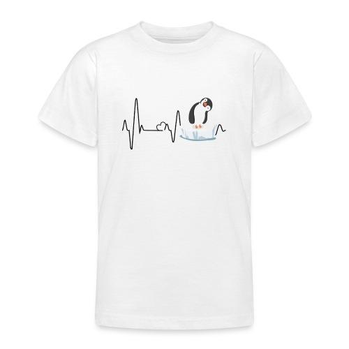 Heartbeat inguin - Teenager T-Shirt