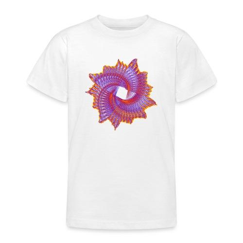Spiral fan ammonite prehistoric animal fossil 11912bry - Teenage T-Shirt