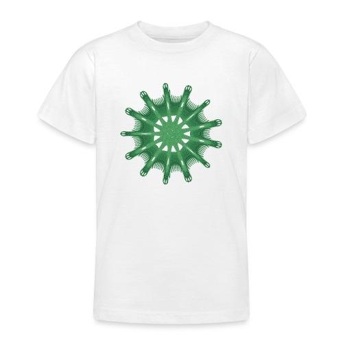 green steering wheel Green starfish 9376alg - Teenage T-Shirt