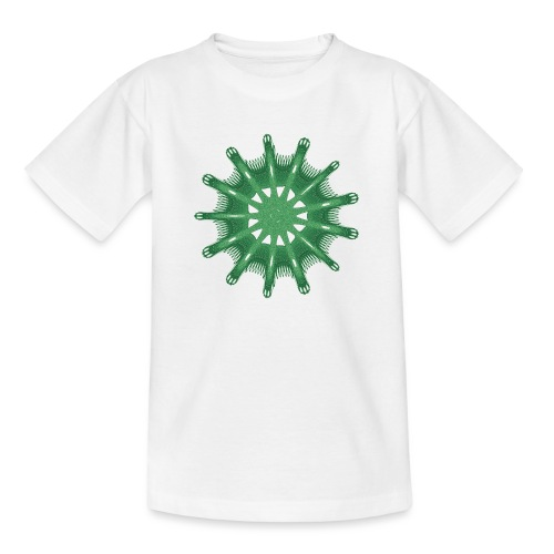 grünes Steuerrad Grüner Seestern 9376alg - Teenager T-Shirt