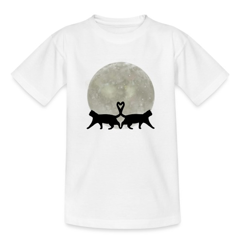 Cats in the moonlight - Teenager T-shirt