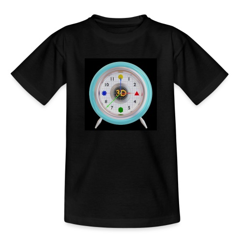 3D O' Clock with 3D engine and objects. - Teenage T-Shirt