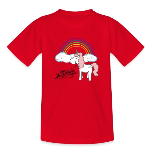 Licorne arc-en-ciel - T-shirt Ado