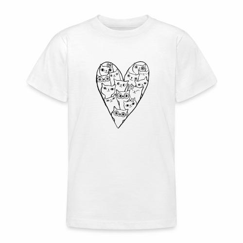 I Love Cats - Teenage T-Shirt