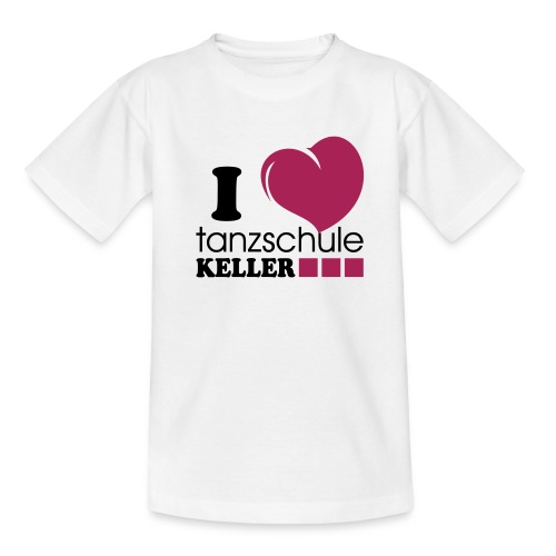 I love Tanzschule Keller - Teenager T-Shirt