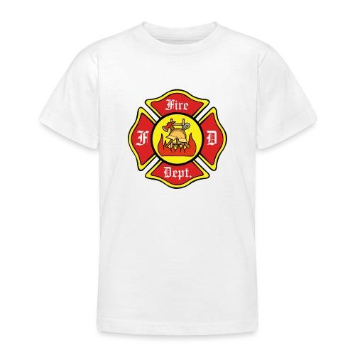 Feuerwehrschild-Fire-Dept - Teenager T-Shirt