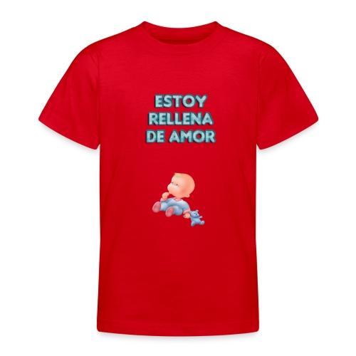 Estoy rellena de amor - Camiseta adolescente