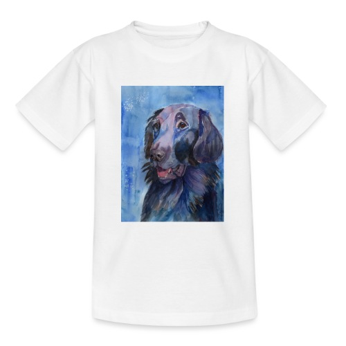 flatcoated retriever - watercolor - Teenager-T-shirt