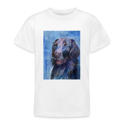 flatcoated retriever - watercolor - Teenager-T-shirt
