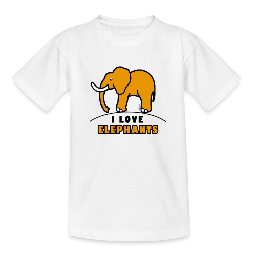 Elefant - I LOVE ELEPHANTS - Teenager T-Shirt