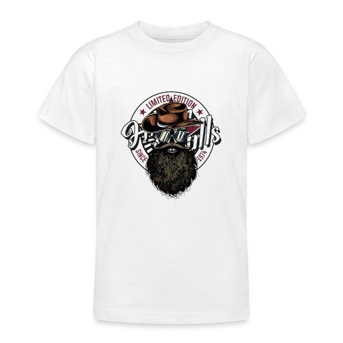 tete de mort crane hipster skull cowboy chapeau - T-shirt Ado