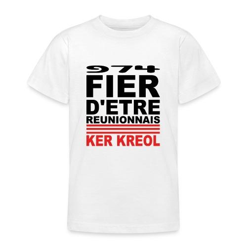 Fier d'etre reunionnais - T-shirt Ado