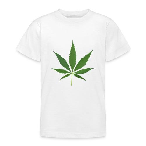 2000px-Cannabis_leaf_2 - Teenager-T-shirt
