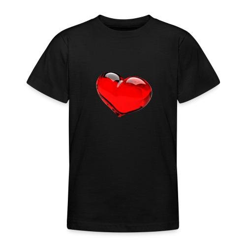 serce 3D - Koszulka młodzieżowa
