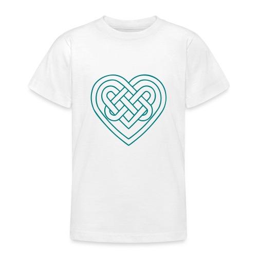 Keltisches Herz, Endlos Knoten, Liebe & Treue - Teenager T-Shirt
