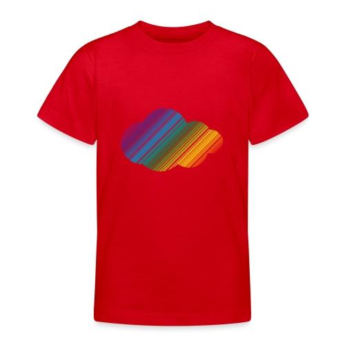 Regnbågsmoln - T-shirt tonåring