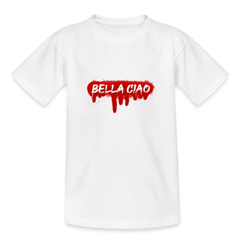 00288 Bella ciao rojo - Camiseta adolescente