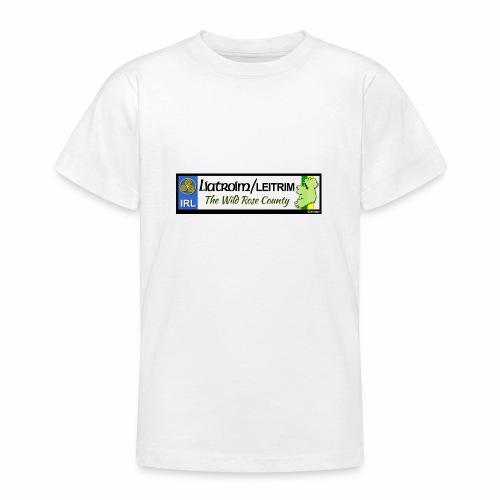 LEITRIM, IRELAND: licence plate tag style decal eu - Teenage T-Shirt