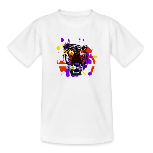 Tiger Splatter Motive - Teenage T-Shirt