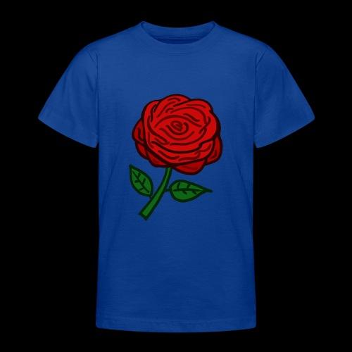 Rote Rose - Teenager T-Shirt