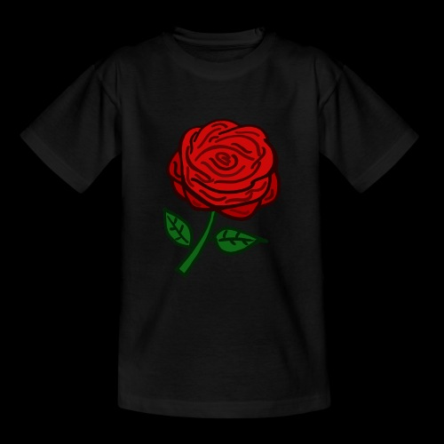Rote Rose - Teenager T-Shirt